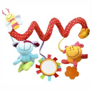 Baby Toys Infant Stroller Bed Cot Crib Hanging Doll Cute Animal Rattles Toy