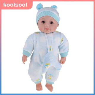 20inch Real Life Baby Doll Soft Stuffed Body American Newborn Infant Boy Doll Model With Plush Clothing and Hat Pajama Set