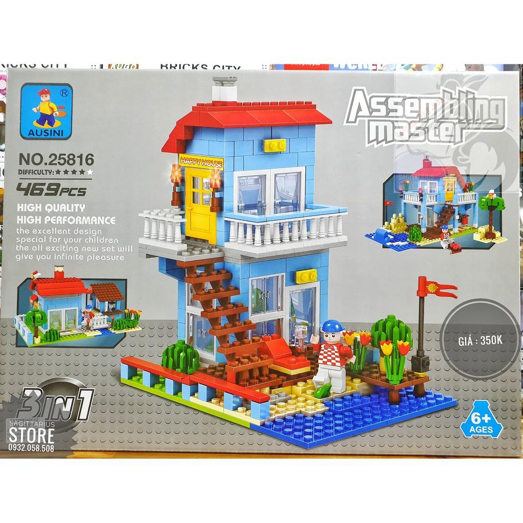 LEGO Ausini 25816 Lắp Ráp Happy House 3 in 1 ( 469 Mảnh )