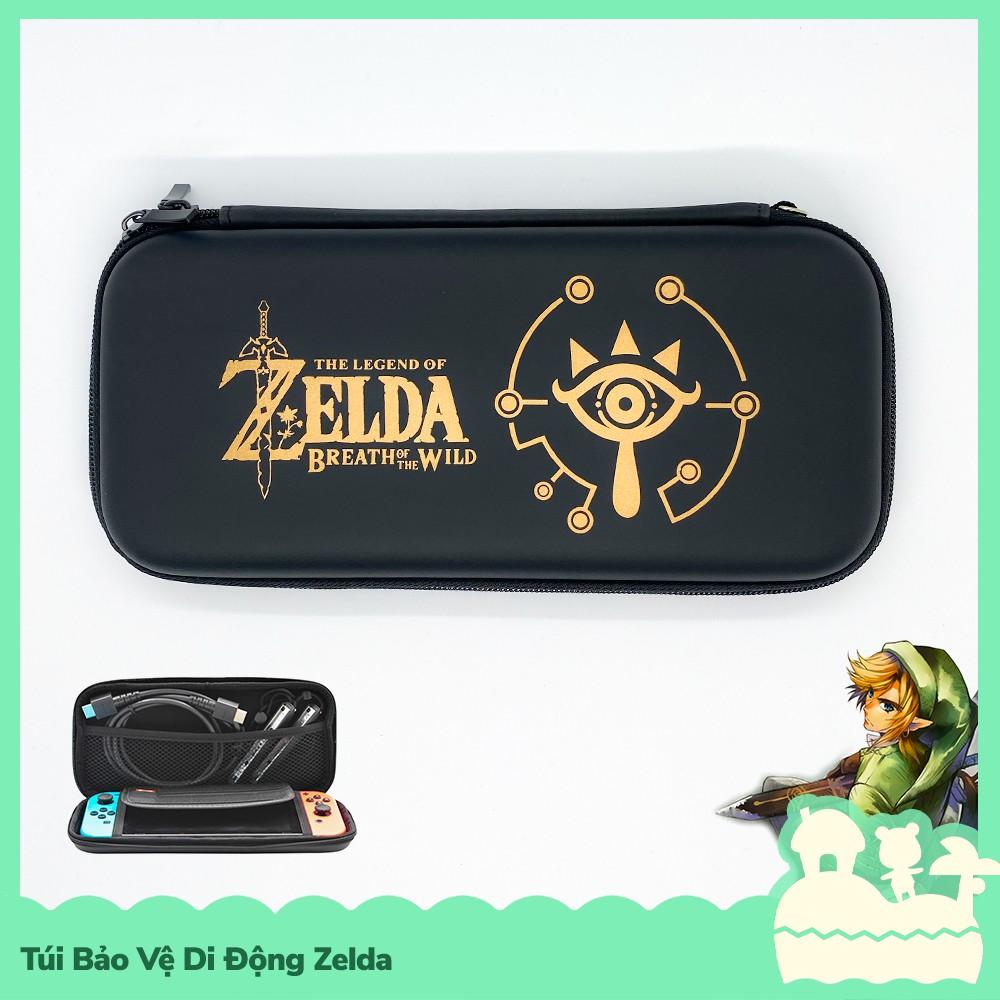[Eva] Phụ Kiện Túi Lưu Trữ Di Động Cầm Tay Bảo Vệ Nintendo Switch Phong Cách Zelda