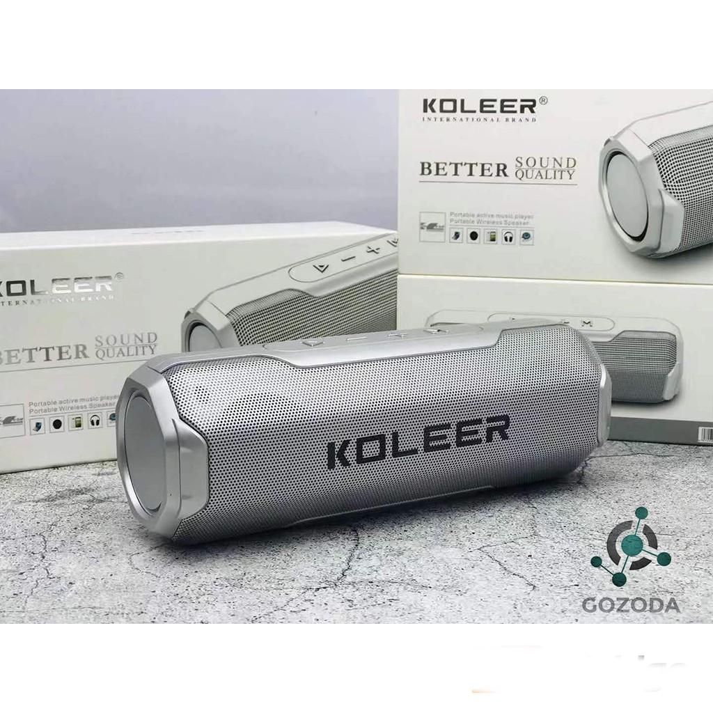 Loa bluetooth không dây Koleer mini vỏ nhôm nghe nhạc hay âm thanh chất lượng hỗ trợ cắm thẻ nhớ và usb