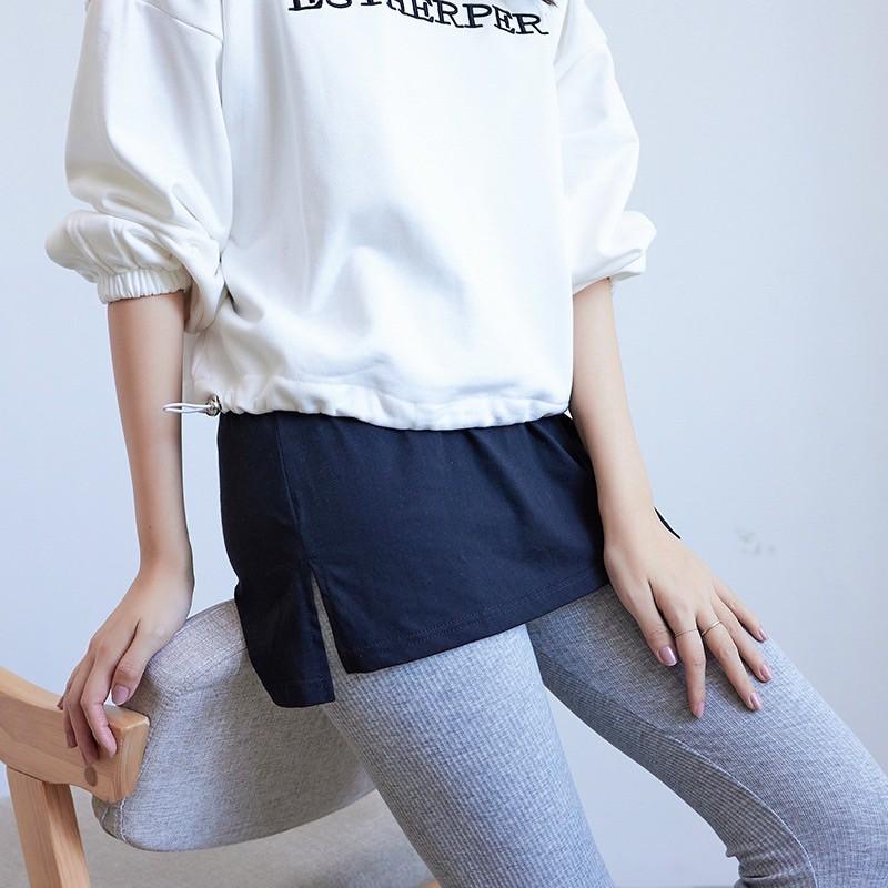 Chân Váy phối với áo hoodie ,sweater Chữ A Giả Hai Lớp với quần legging