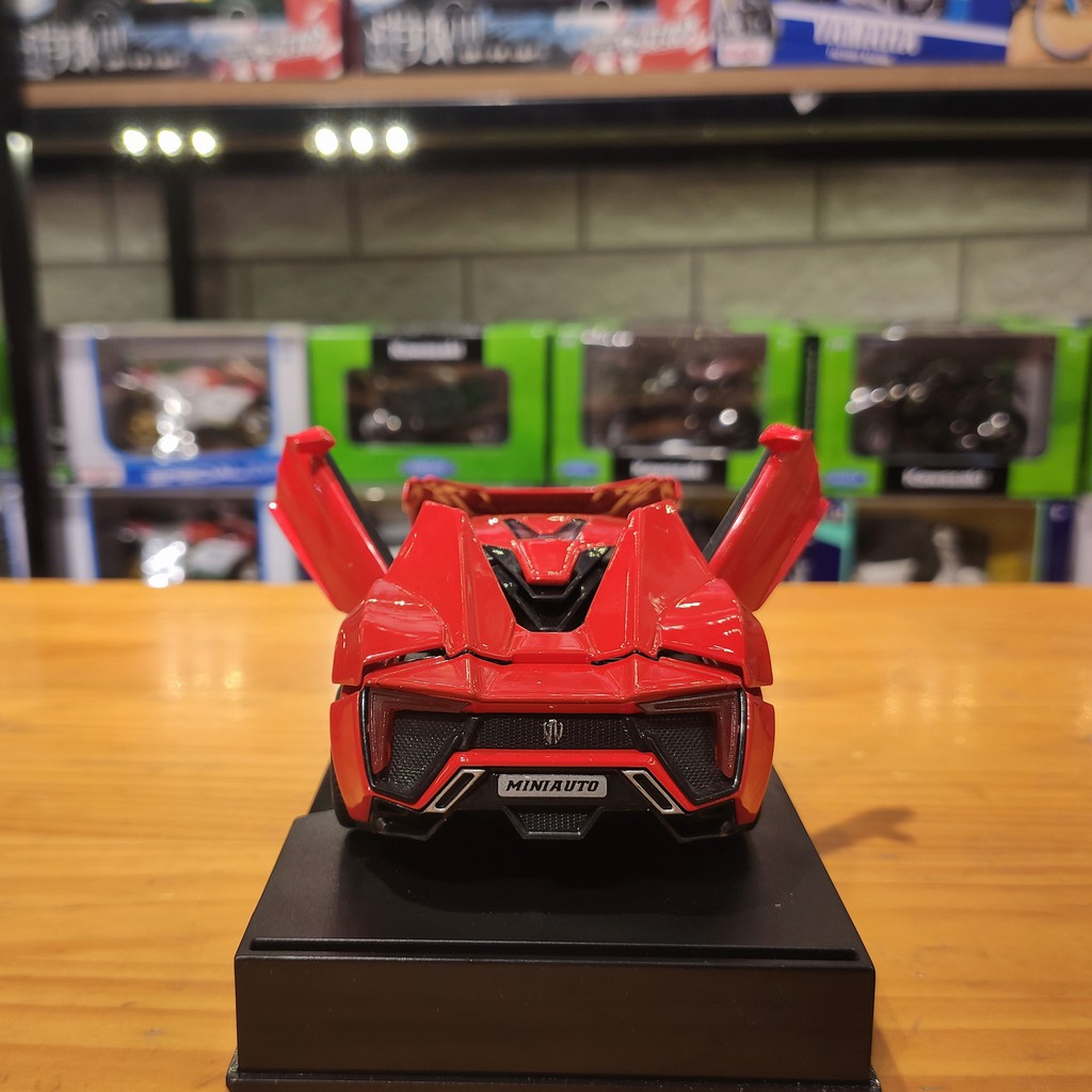 Xe mô hình hợp kim siêu xe Lykan Hypersport tỉ lệ 1:32 màu đỏ