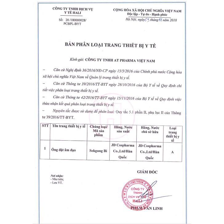 Ống Se Khít SB (Sokgung Bi) - Giúp Cô Bé Se Khít - Victory Pharmacy