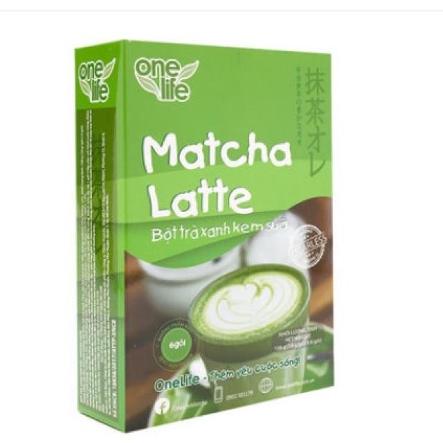 Bột trà xanh kem sữa macha latte One life