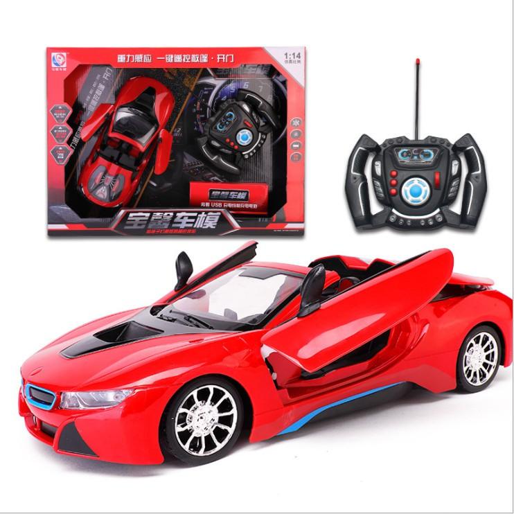 đồ chơi điều khiển từ xa – xe điều khiển từ xa siêu xe F1 (màu đỏ) có đèn led và sử dụng dây sạc
