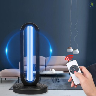 ● 38W UVC LED Lamp with Remote Controller 360 Degrees Three Timing for Purify Hotel Household Home Office Living Room