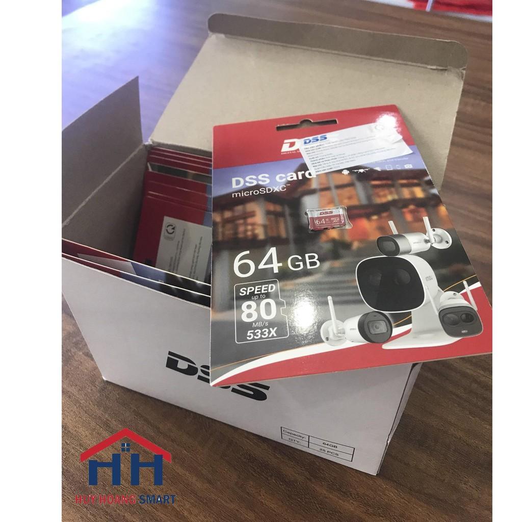 Thẻ nhớ micro SD DSS 64GB chuyên camera (bảo hành 24T)