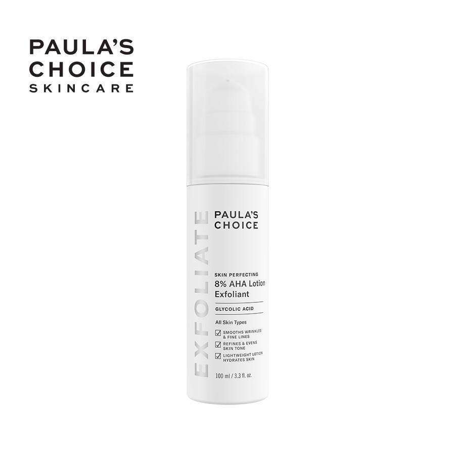 [MÃ COSMALLFM -10% ĐH250k]Kem loại bỏ tế bào chết mềm mịn da Paula's Choice Skin Perfecting 8% AHA Lotion 100ml 2060
