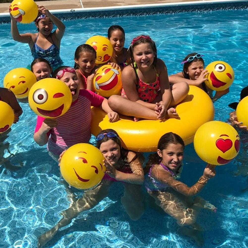 12inch Emoji Pvc Ball An Inflatable Beach Toy Ball