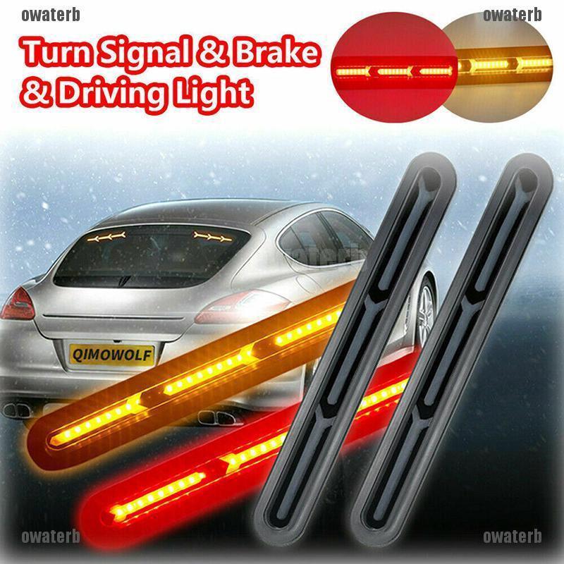 ★PHỤ KIỆN XE ★1x 60LED Car Truck DRL LED Light Bar Brake Flowing Turn  Signal Stop Tail Strip