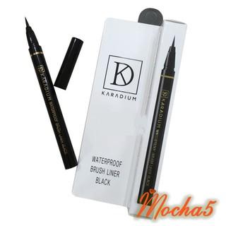 Sỉ kẻ dạ mắt Karadium Waterproof BRUSH LINER BLACK nét mảnh chống trôi chống lem