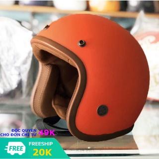 Mũ bảo hiểm 3 4 đầu nón bao hiem đi phượt thời trang nam nữ nhiều màu full tem kiểm định an toàn và chất lượng OXM4 thumbnail