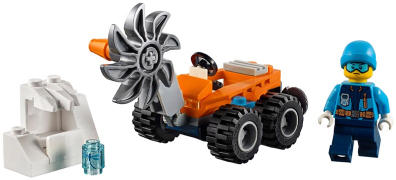 Lego Ninjago 30360 - Arctic Ice Saw polybag - Bộ xếp hình Lego Xe phá băng mini