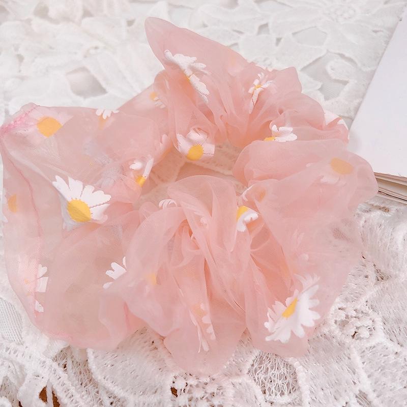 Túi Đeo Chéo Hình Hoa Cúc Phối Lưới Phong Cách Hàn Quốc Cho Nữ