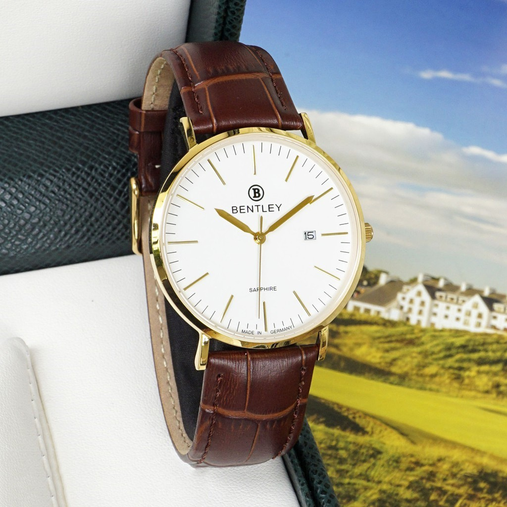 Đồng hồ nam dây da mặt kính chống xước Bentley BL1805 BL1805-20 BL1805-20BKWD