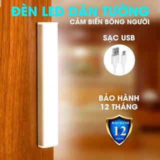 Đèn LED Cảm biến bóng người không dây dán tưởng Ánh sáng trắng Siêu sáng cho tủ quần áo cầu thang CFX