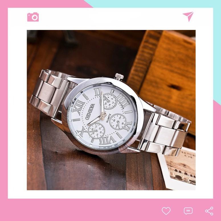 Đồng hồ nam nữ thời trang Geneva lịch lãm cực đẹp DH99 giá rẻ tiện dụng