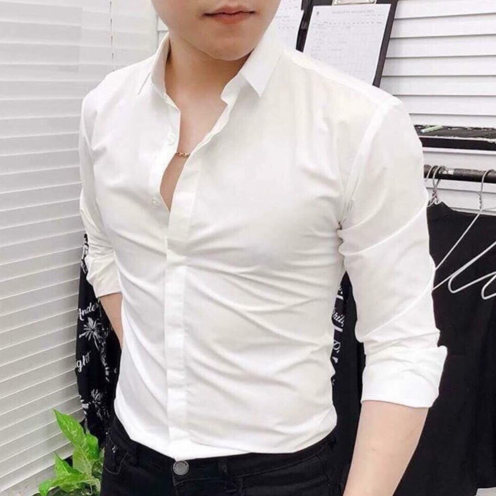 Áo sơ mi nam dài tay đẹp Hamino thời trang công sở Hàn Quốc