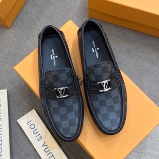 (ảnh+video) giày moca nam logo bạc đế khâu chắc chắn