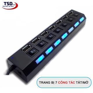 [Mã ELFLASH5 giảm 20K đơn 50K] Hub USB 7 Port Có Công Tắc Tắt / Mở