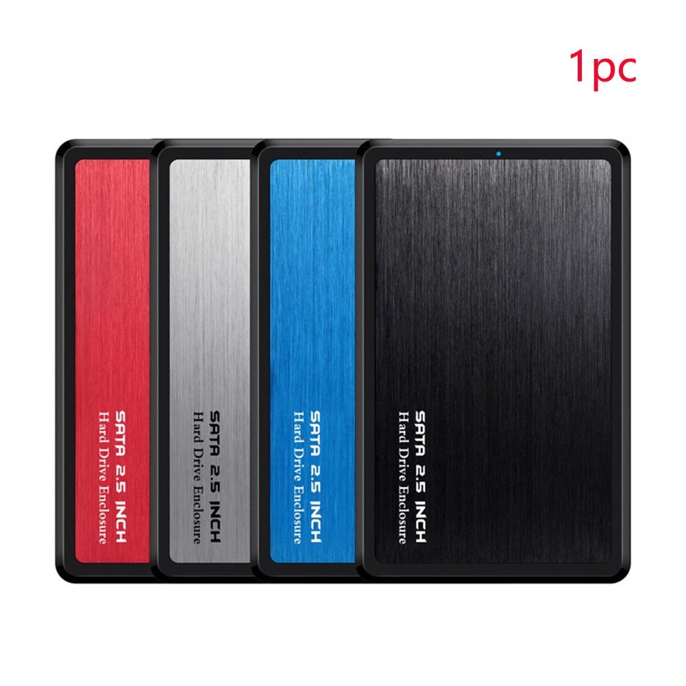 SSD Support 2.5 SATA USB 3.0 Shock Proof Aluminum Alloy Hard Drive Enclosure