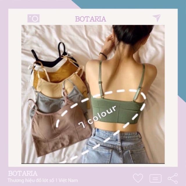 Áo bra nữ - áo bra len gân tăm chất đẹp 2 dây hở lưng siêu hot ABU1