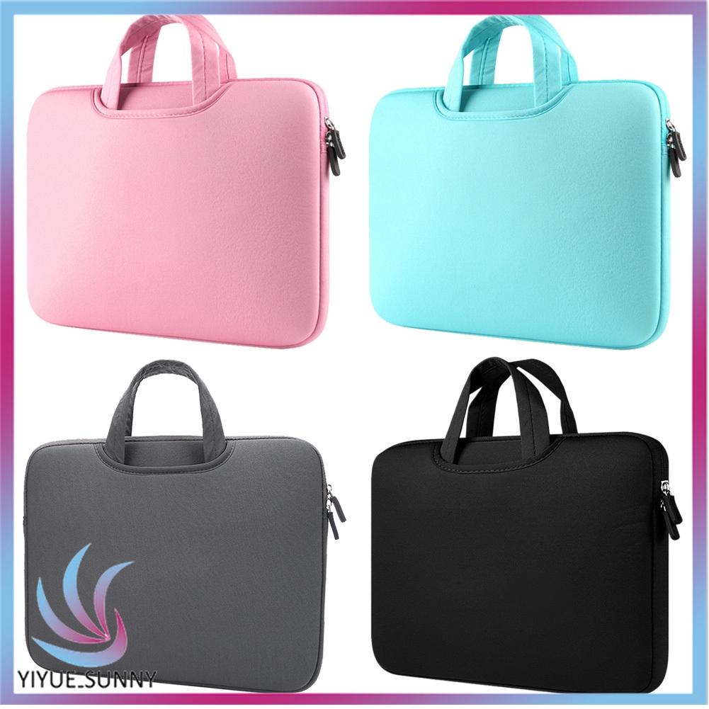 Túi đựng Laptop & Macbook 11 13 15 Inch màu trơn có dây kéo tiện
