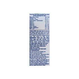mila [CHÍNH HÃNG] Sữa Tươi Tiệt Trùng TH True Milk Hương Socola Thùng 48 Hộp x 180ml