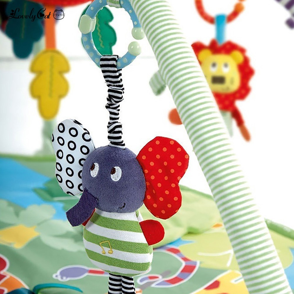 Baby Music Hanging Crib Bed Soft Dolls Bell Teether Toy