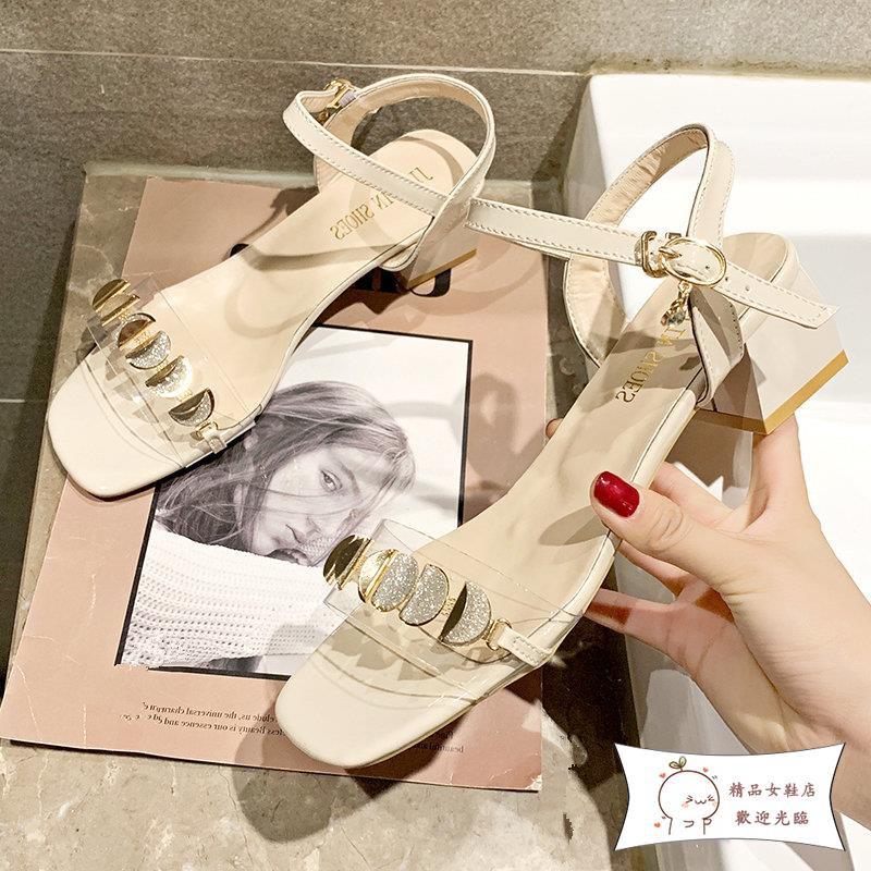 giày cao gót quai ngang trong suốt thời trang dành cho nữ
