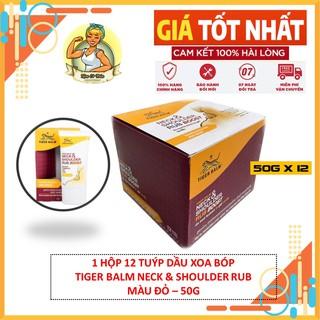 1 Hộp 12 Tuýp Dầu Xoa Bóp Tiger Balm Neck & Shoulder Rub Boost (Màu Đỏ) - Dùng cho vùng cổ vai gáy Thái Lan thumbnail