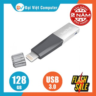 USB lighting 3.0 SanDisk iXpand Mini Flash 128GB 64GB cho iphone, ipad