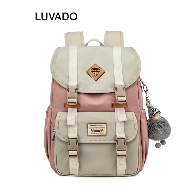 Balo nữ cá tính đẹp thời trang CLASSIC DIAMOND cao cấp cute dễ thương LUVADO BL112