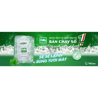 Dung dịch vệ sinh phụ nữ Chilly Gel - Giúp làm sạch dịu nhẹ cơ quan sinh dục ngoài, không gây khô rát (Chai 200ml) 2