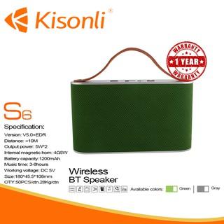 [BẢO HÀNH 12 THÁNG] Loa Kisonli Bluetooth S6_ Gọn, nhẹ, thời trang