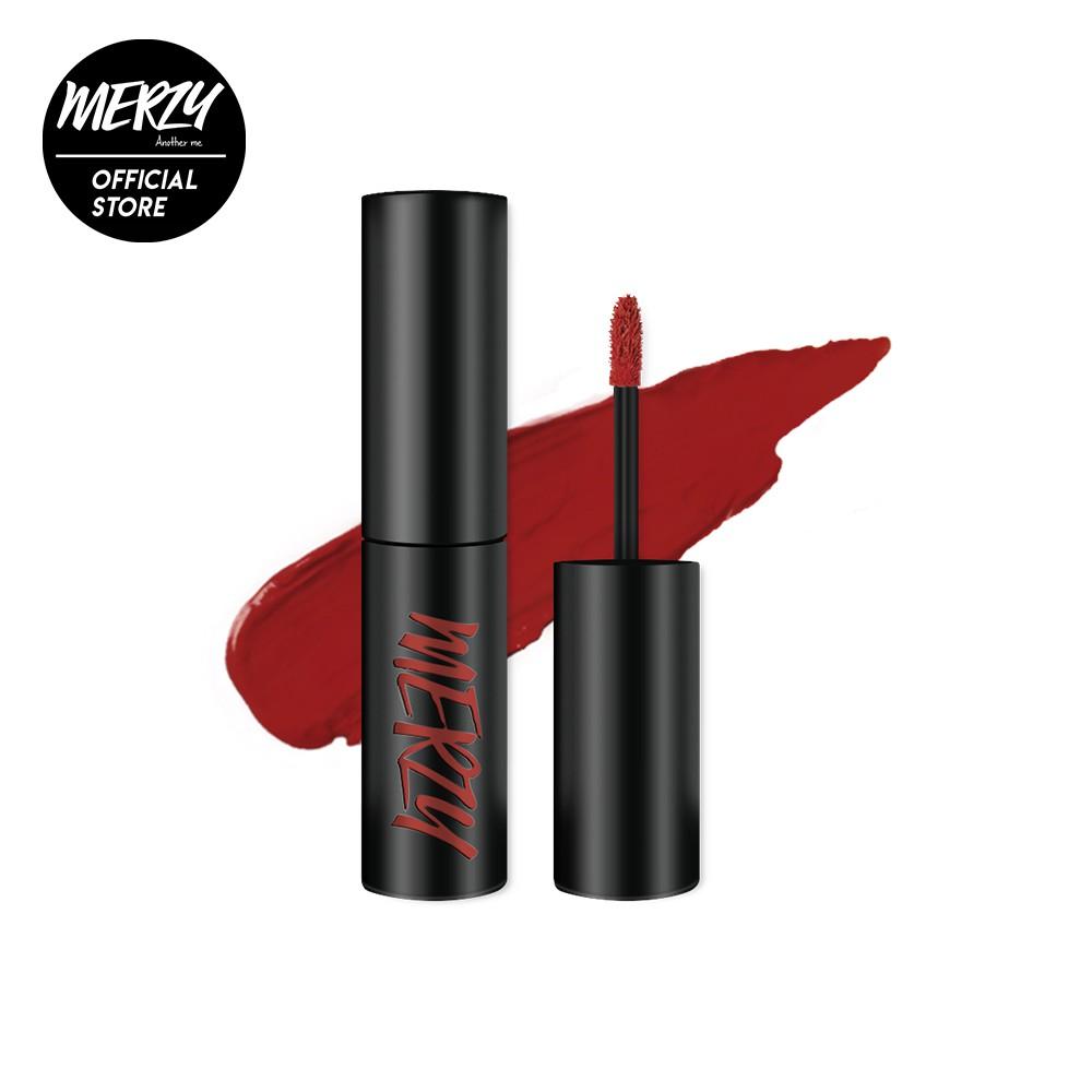 Son kem lì Merzy The First Velvet Tint màu đỏ gạch V6 – Firenze Negroni 4,5g