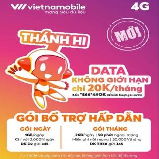 Sim Thánh Hi Vietnamobile 4G Miễn phí Data tháng đầu