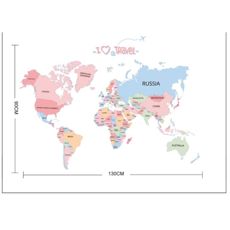 Decal dán tường bản đồ 03