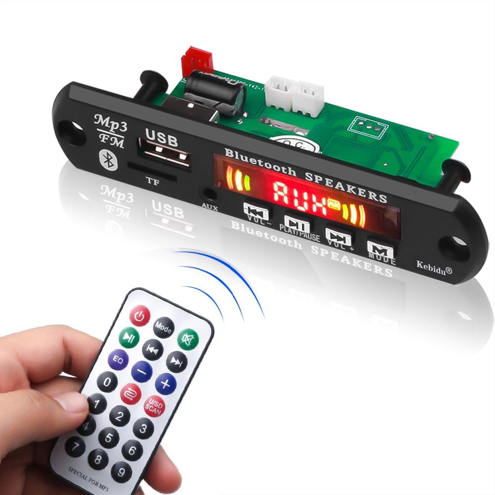 Bộ mạch giải mã âm thanh MP3 FM kết nối Bluetooth 5.0 12V