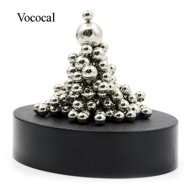Vococal Stainless Steel Balls with Magnetic Base Children's DIY Steel Balls Leisure Toys Home Office Decoration Toy