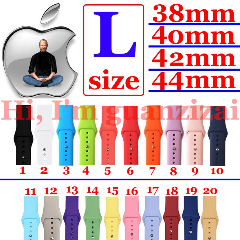Dây đeo silicone thay thế cho Apple Watch 1/ 2/ 3/4/5 38mm/40mm/42mm/44mm