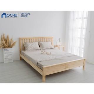 Giường Ngủ OCHU Gỗ Thông - Bernie Bed - Natural