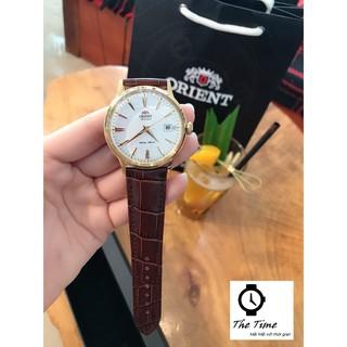 ( Sẵn 2 màu dây đen- nâu ) Đồng hồ nam Orient Bambino Gen 1 mặt trắng viền vàng hồng case 40.5mm. 3atm thumbnail