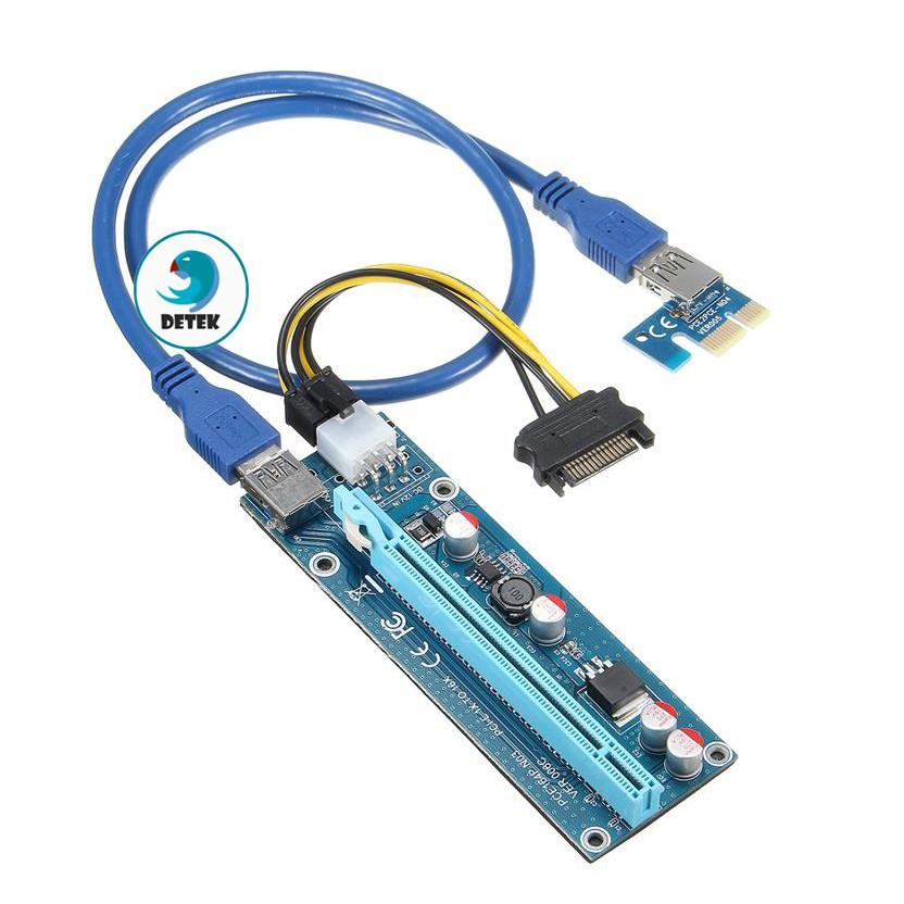 Cáp Riser bắt VGA PCI-e 1X to 16X USB 3.0