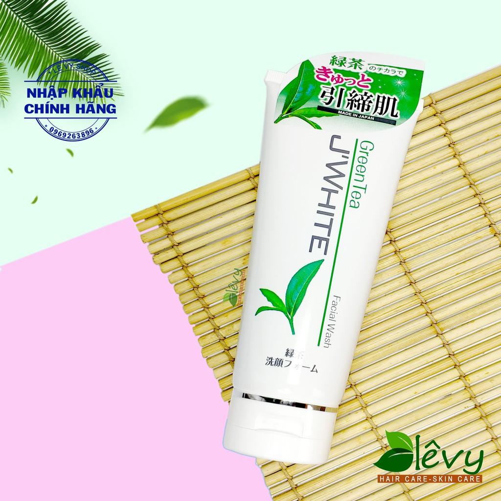 Sữa rửa mặt trị Mụn, Trắng Sáng Da Tinh Chất Trà Xanh Matcha Nhật Bản J'WHITE 160G