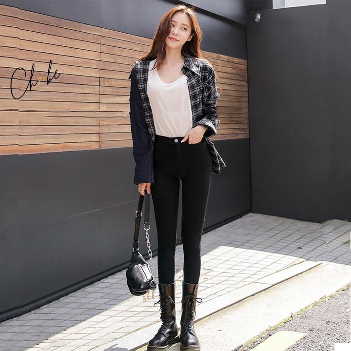 Quần tregging nữ Choobe cạp cao, quần tregging chất vải dày dặn, siêu co giãn, mặc tôn dáng Q13