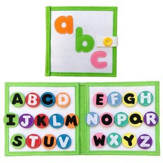 ĐỒ CHƠI SẠCH – sách vải rèn luyện kỹ năng cho bé chủ đề chữ cái tiếng Anh ABC