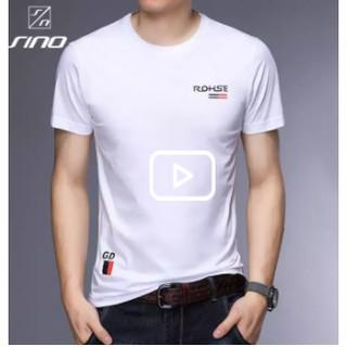 Áo phông nam ngắn tay cổ bẻ phối viền cao cấp Kiểu dáng Hàn Quốc chất liệu , co giãn