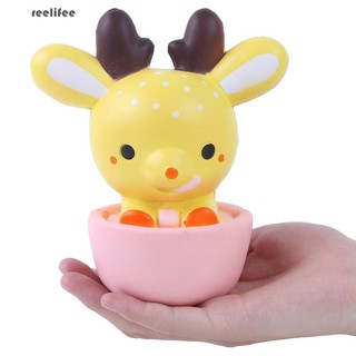 Cute Cup Deer Slow Rising Squishy Stress Relief Kid Squeeze Toy Phone Pendant